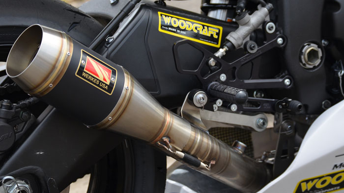 Competition Werkes Slipon Exhaust on Yamaha R6
