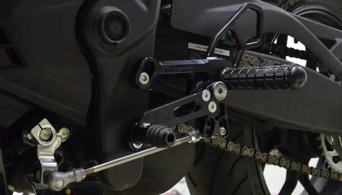 R3 Rearsets Mounted