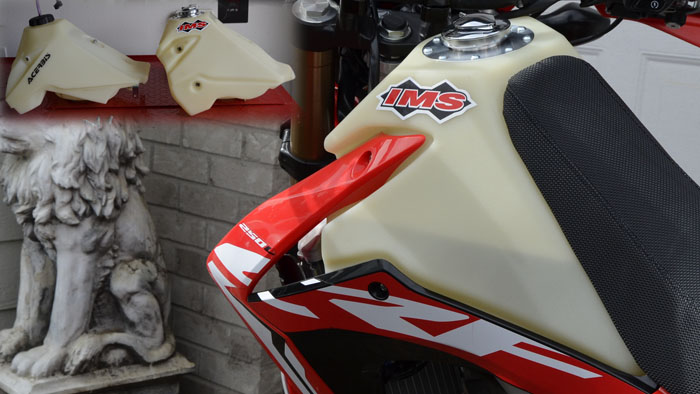 Video -IMS 3.5 Gallon Fuel Tank Compared to Acerbis for the Honda CRF250L